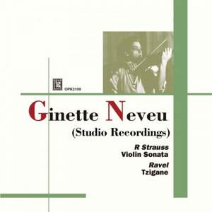 Ginette Neveu: Studio Recordings