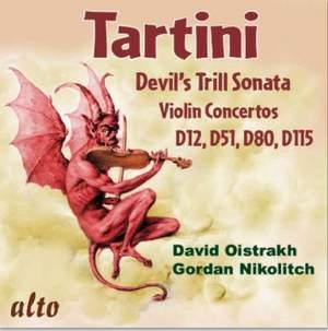 Tartini: The Devil's Trill & Violin Concertos D12, D51, D80, D115 Product Image