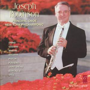 Joseph Robinson plays chamber works for oboe