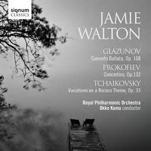 Jamie Walton plays Glazunov, Prokofiev & Tchaikovsky
