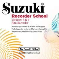 Suzuki Recorder School, Vols. 3 & 4 (Alto Recorder)