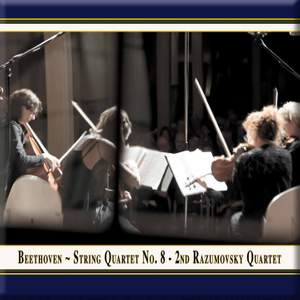 Beethoven: String Quartet No. 8 in E minor, Op. 59 No. 2 'Rasumovsky No. 2' Product Image