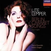 Ute Lemper: Berlin Cabaret Songs