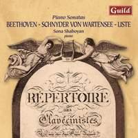 Beethoven - Schnyden von Wartensee - Liste: Piano Sonatas