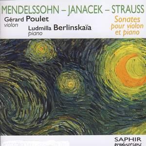 Mendelssohn, Janacek, Strauss R.: Violin Sonatas Product Image