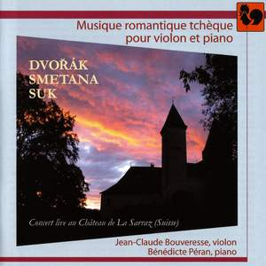 Czech Romantic Music for Violin and Piano (Live)