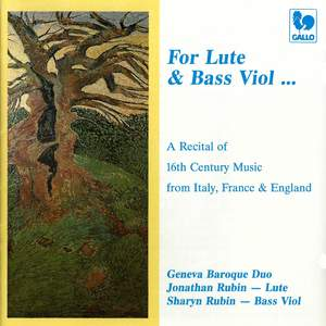 A Baroque Recital of 16th Century Music from Italy, France & England