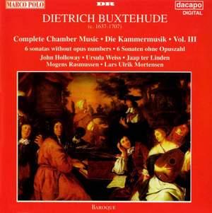 Buxtehude: Chamber Music (Complete), Vol. 3 - 6 Sonatas