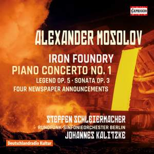 Alexander Mosolov: Iron Foundry, Piano Concerto No. 1 Product Image