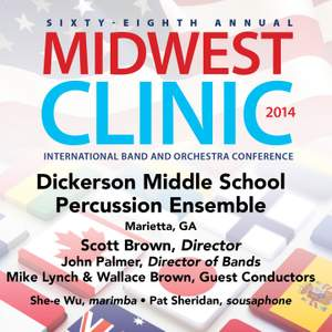 2014 Midwest Clinic: Dickerson Middle School Percussion Ensemble (Live)