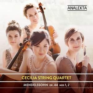 Mendelssohn: String Quartets ,Op. 44, Nos. 1& 2 Product Image