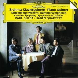 Brahms: Piano Quintet & Schoenberg/Webern: Chamber Symphony