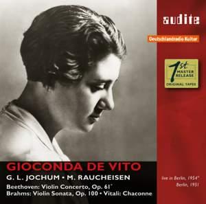 Gioconda de Vito: Beethoven, Brahms & Vitali