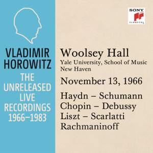 Vladimir Horowitz in Recital at Yale University