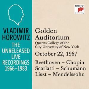 Vladimir Horowitz in Recital at Queens College, New York City, October 22, 1967