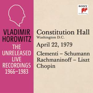 Vladimir Horowitz in Recital at Constitution Hall
