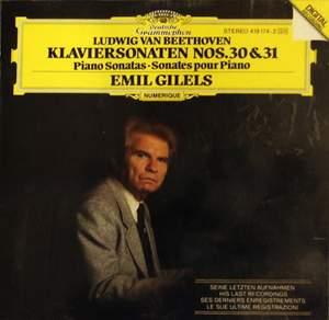 Beethoven: Piano Sonatas Nos. 30 & 31