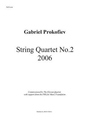 Gabriel Prokofiev: String Quartet No.2