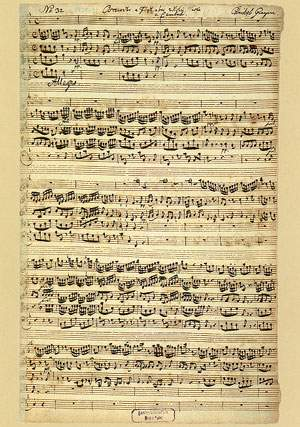 Graupner, Christoph: Konzert für Blockflöte und Streicher in F