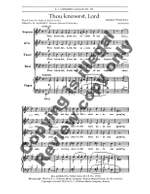Henry Purcell: Thou Knowest, Lord Product Image