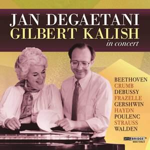 Jan DeGaetani and Gilbert Kalish in Concert