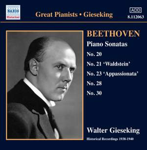 Beethoven: Piano Sonatas Nos 20, 21, 23, 28 & 30 Product Image