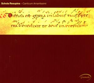 Canticum amantissimi: Gregorian Chant from Mass and Officium
