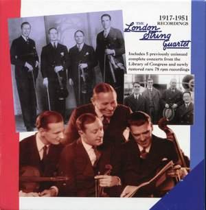 The London String Quartet: 1917-51 Recordings