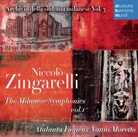 Niccolò Zingarelli: The Milanese Symphonies Vol. 1