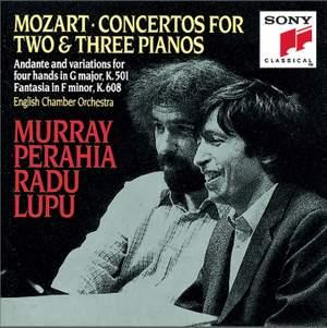 Mozart: Concertos for Two & Three Pianos