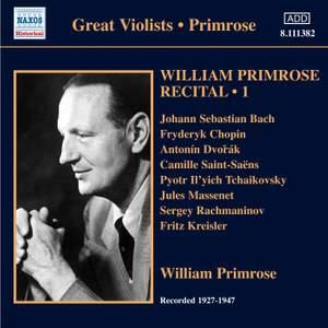 William Primrose Recital Volume 1