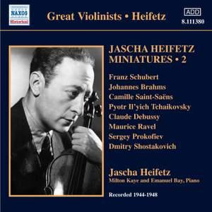 Jascha Heifetz Miniatures Volume 2