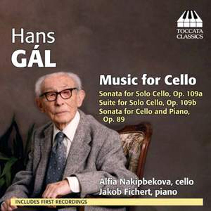 Hans Gál: Music for Cello and Piano