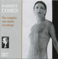 Harriet Cohen: Complete Solo Studio Recordings