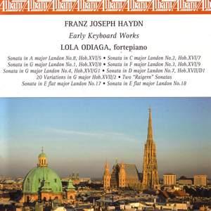 HAYDN, J.: Keyboard Sonatas Nos. 1-4, 7, 17, and 18 / 20 Variations in G major (Odiaga, fortepiano)