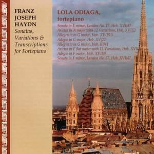 HAYDN, J.: Keyboard Sonatas Nos. 19 and 57 / Allegretto in G major / Adagio in G major / 12 Variations in E flat major (Odiaga)