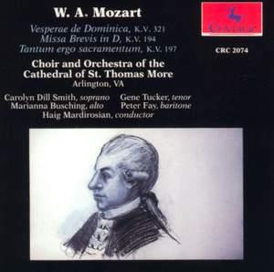 Mozart: Vesperae Solennes de Dominica & Missa Brevis in D Major