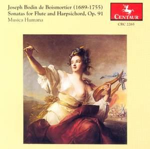 Boismortier: Sonatas for flute and harpsichord, op. 91