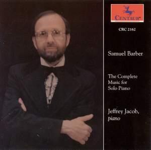 Barber: Complete Piano Music