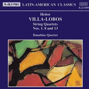 Villa-Lobos: String Quartets Nos. 1, 8 and 13 Product Image