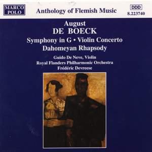 August de Boeck: Symphony in G Major & Violin Concerto