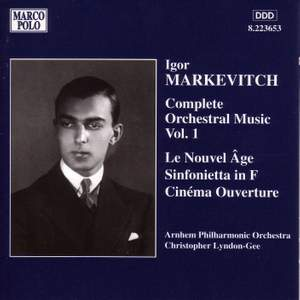 Igor Markevitch: Orchestral Music, Vol. 1