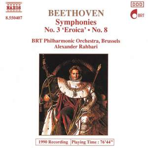 Beethoven: Symphonies Nos. 3 and 8 Product Image