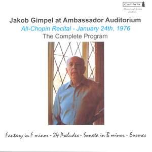 Jakob Gimpel at Ambassador Auditorium