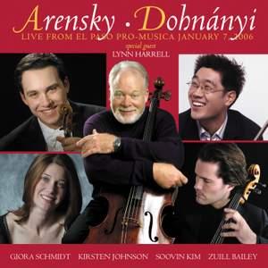 Arensky and Dohnanyi: Chamber Works