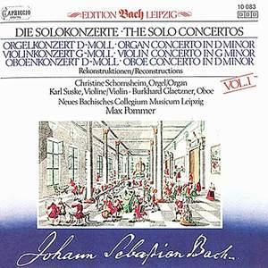 JS Bach: Solo Concertos, Vol. 1