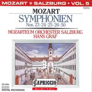 Mozart: Symphonies Nos. 23, 24, 25, 26 & 50