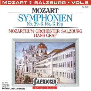 Mozart: Symphonies No. 39, K. 16a, K. 19a