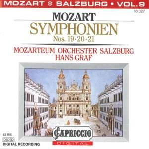 Mozart: Symphonien Nos. 19, 20 & 21
