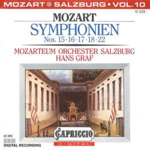 Mozart: Symphonien Nos. 15, 16, 17, 18 & 22
